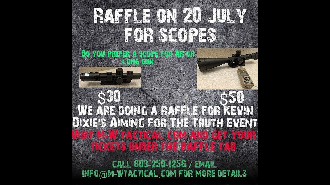 Raffle for Aiming For The Truth Event 21 July 2018