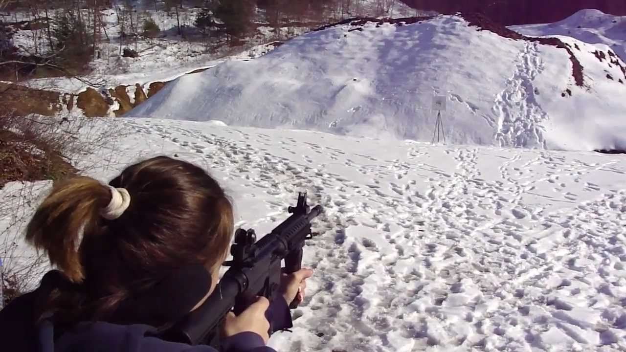 Wife Tears up AR400 with Mossberg 715T Tactical .22