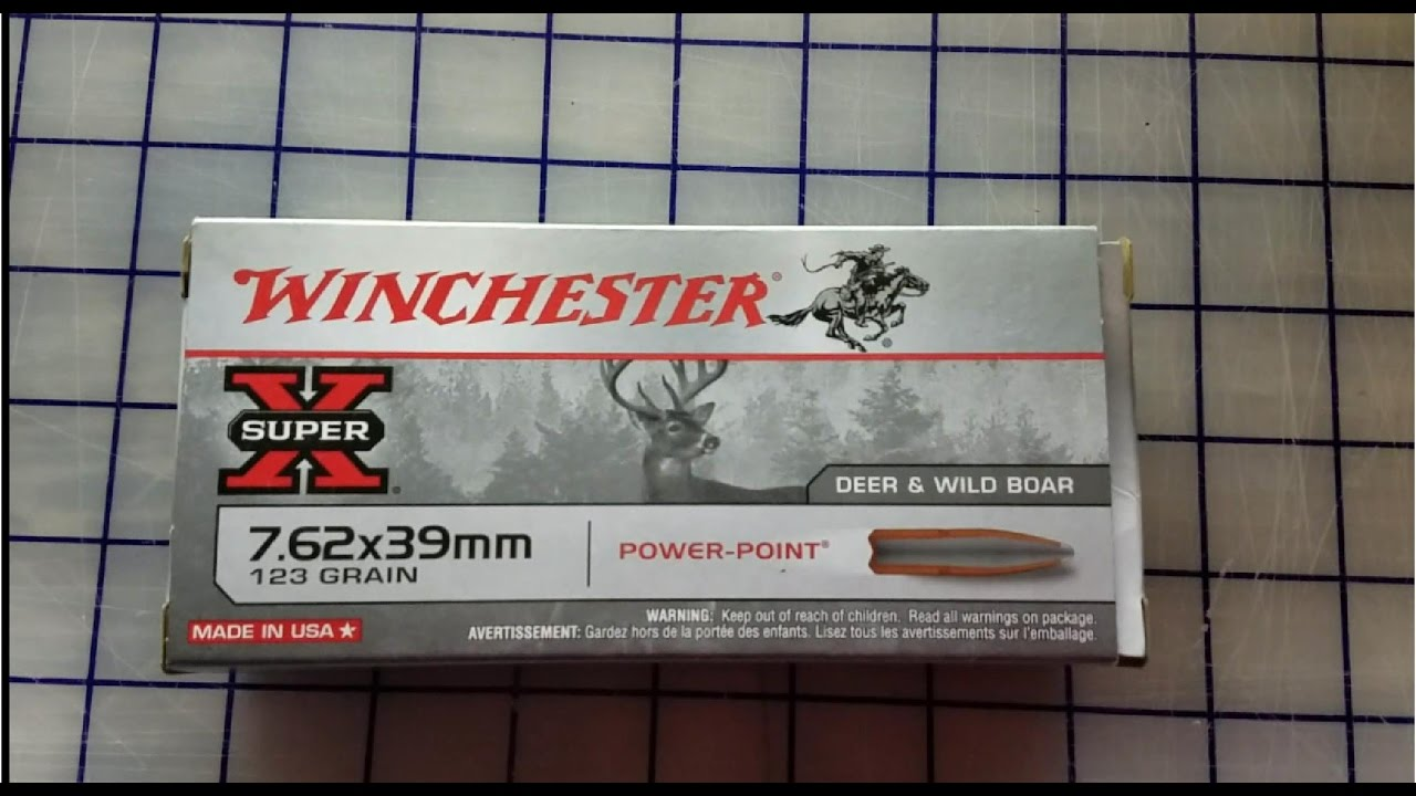 7.62x39 Winchester Power Point Gel Test