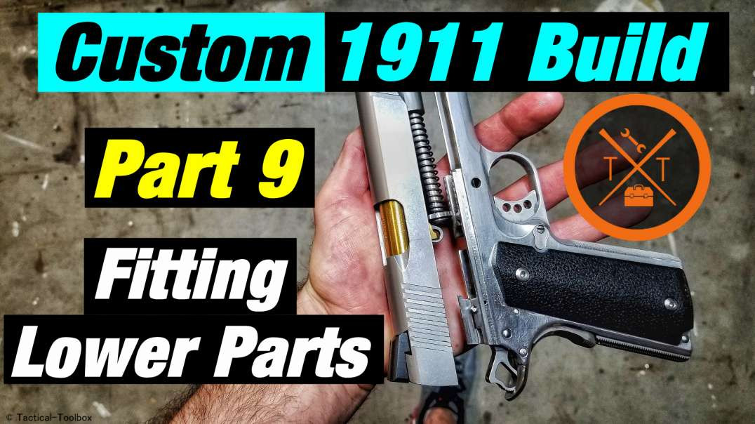 Custom 1911 Build! Part 9 // Fitting & Install Frame Parts