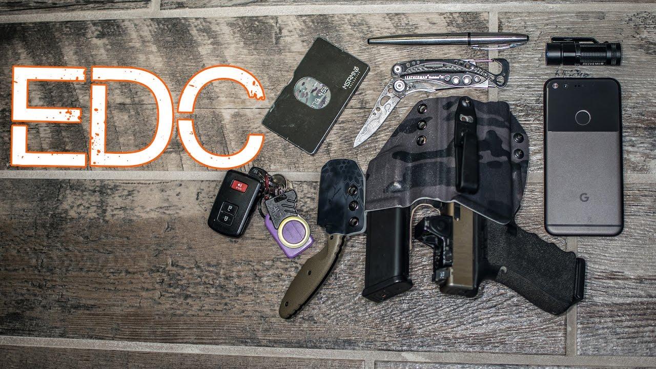 EDC 2017 - Minimalist Everyday Carry - Practical Pocket Dump