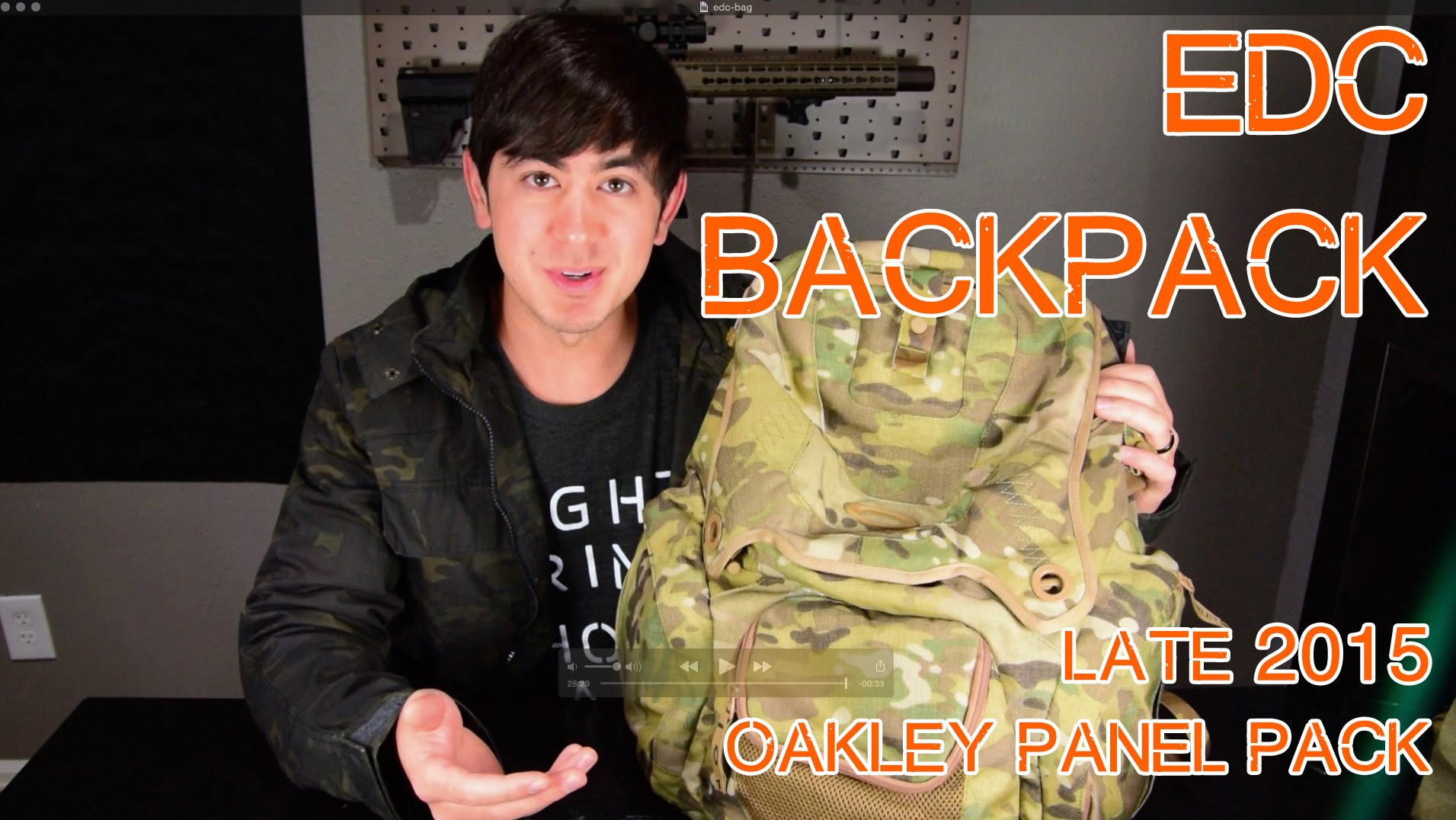 EDC Bag - Everyday Carry Backpack - Oakley Panel Pack (Late 2015)