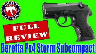 Beretta Px4 Storm Subcompact:  Ghost Tactical Gun of the Month: Full Review