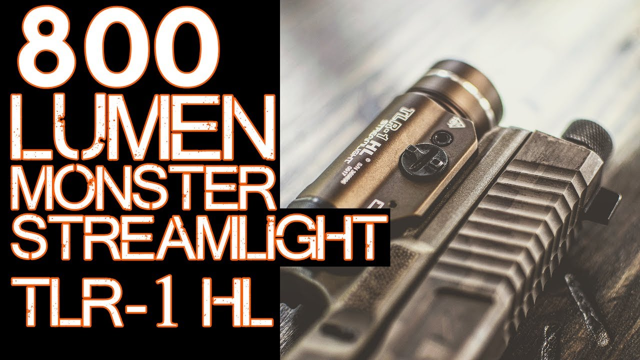 Streamlight TLR-1 HL Review - 800 Lumens - Weapon mounted flashlight