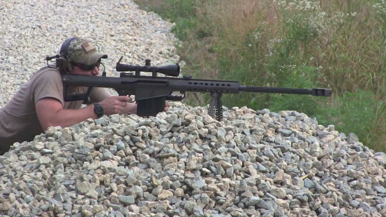 M107 Sniper Rifle Barrett .50 Caliber Shooting - Quick Shots!