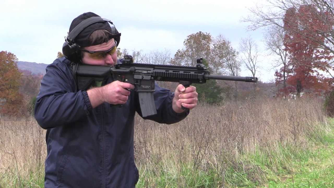 HK MR556 / HK 416 Civilian Variant First Look and Shooting Demo
