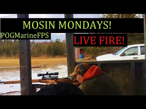 Mosin Monday LIVE FIRE At The Range M44 , M35 , 91-30 , Scout ,Tactical Custom - 7.62x54R