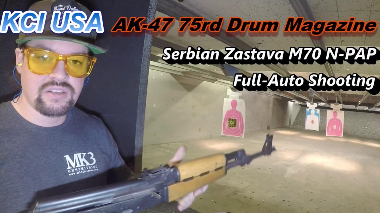 KCI USA AK 47 75rd Drum Zastava M70 Full Auto  @Discount Firearms