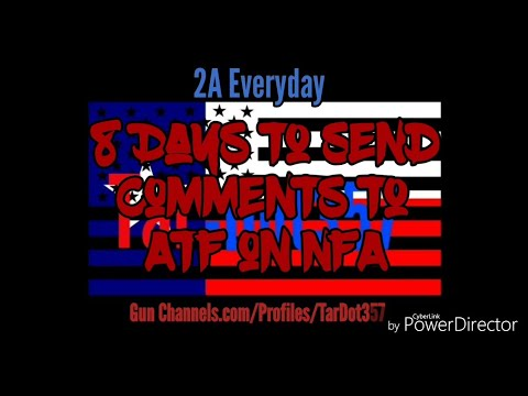 ATF Looking to Redefine NFA in 8 Days