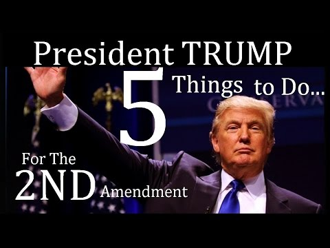 5 Things Trump will do For The 2nd Amendment - Freedom Not Limitations -