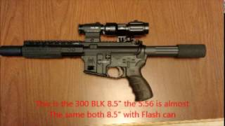 flash comparison firearms at night 45 9mm 5.56 and 300blk subsonic and supersonic