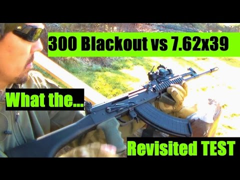 300 Blackout VS 7.62x39 TEST Revisited AKM AK-47 and AR-15