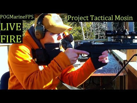 Tactical Mosin Project Complete LIVE FIRE - 10 rd Magazine Archangel Stock = Awesome