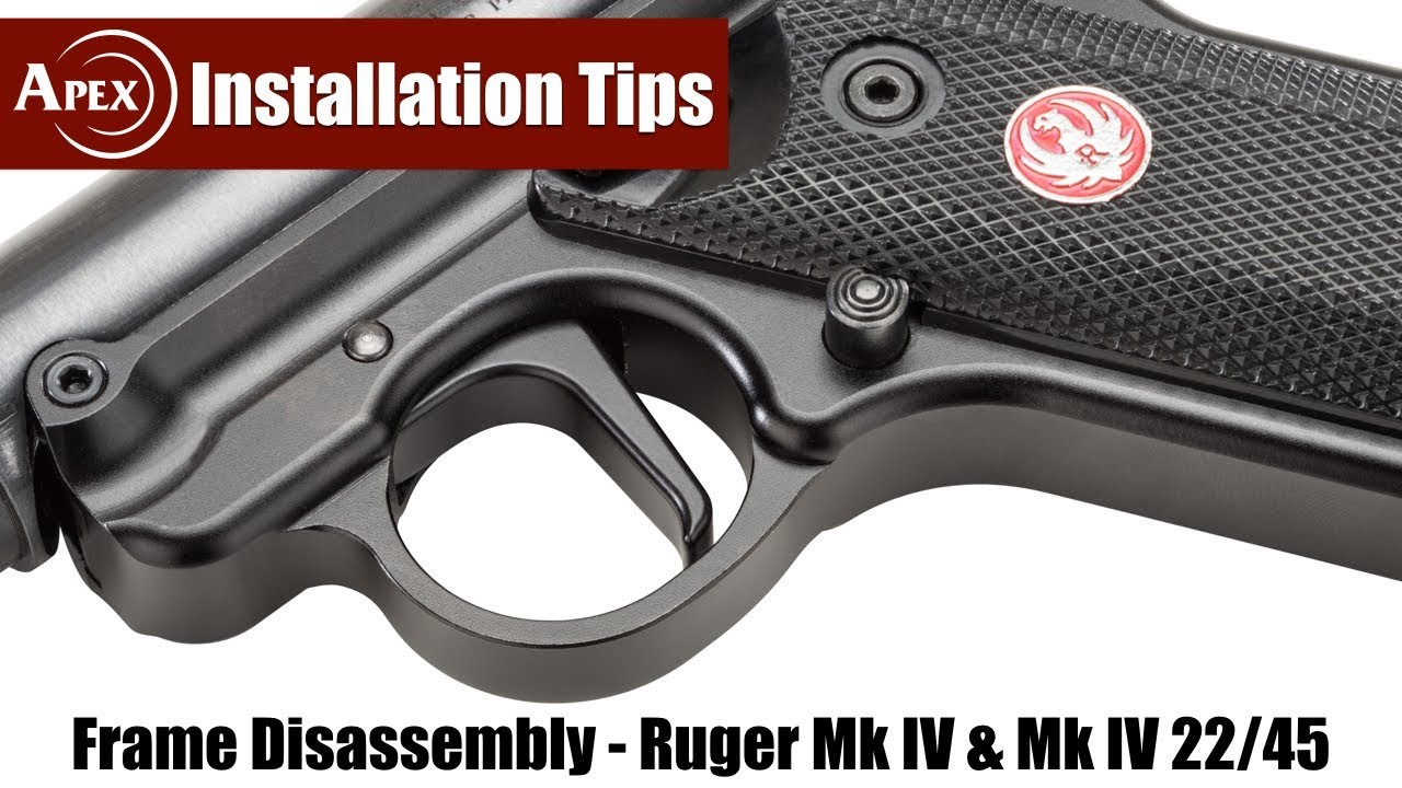How To Disassemble The Ruger Mk IV Frame