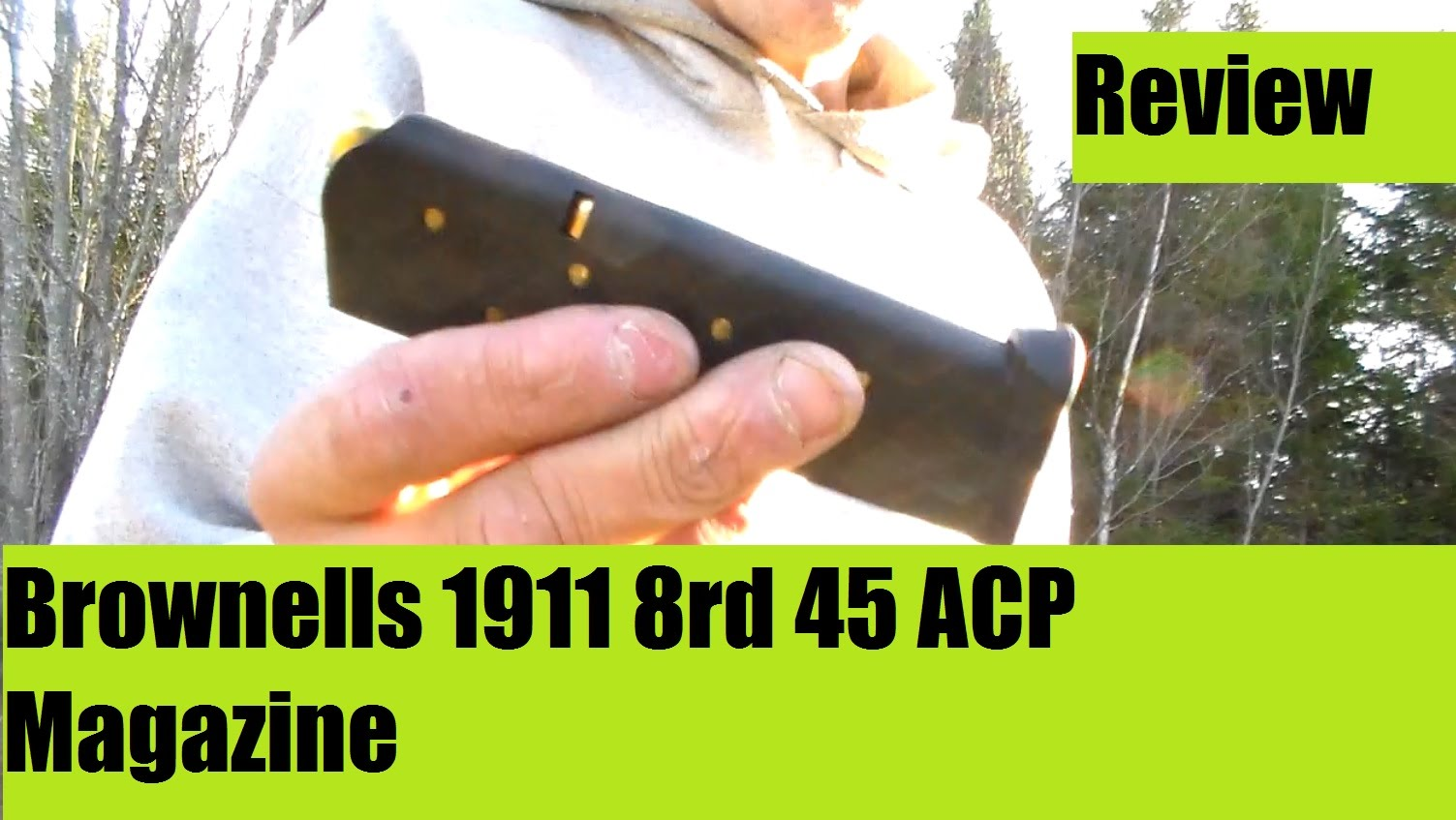 1911 45 ACP Brownells Magazine 8rds Review