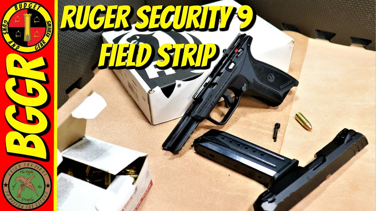 Ruger Security 9 Field Strip