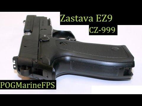 Zastava EZ-9 CZ999 handgun in 9mm LIVE FIRE