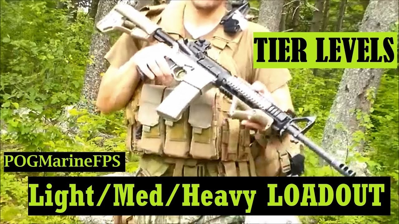 Different Loadout TIERs Military style SHTF WROL Senerio
