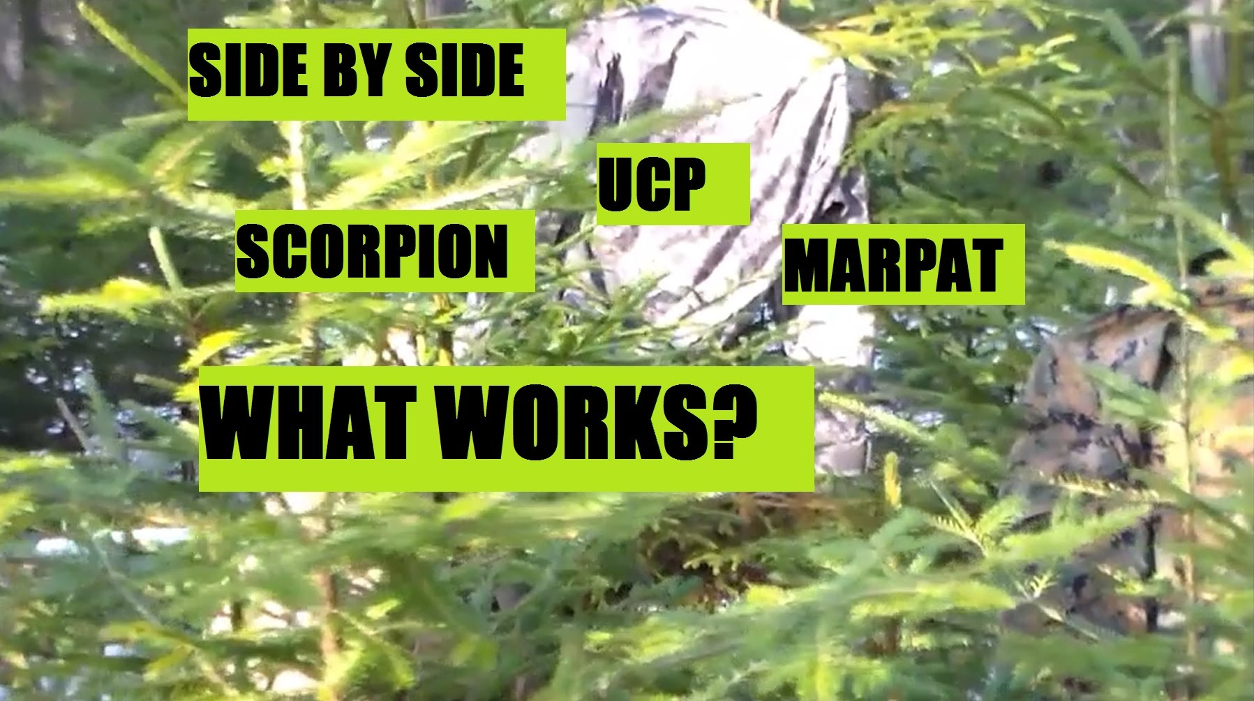 Side by Side Comparision Marpat acu ucp, and scorpion multicam PART TWO of 3