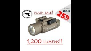 OLIGHT PL-2 FLASH SALE!  🔦 1,200 LUMEN LIMITED EDITION FDE!!