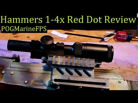 Hammers optic 1-4x Review Awesome Afordable Red dot on my AK 74 Waffen Werks Rifle