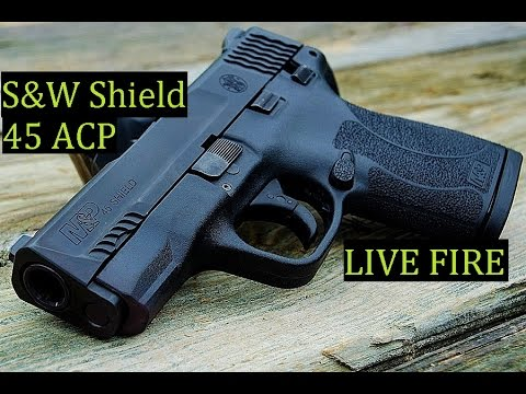 S&W 45-ACP Shield Handgun LIVE FIRE Review - POGMarineFPS