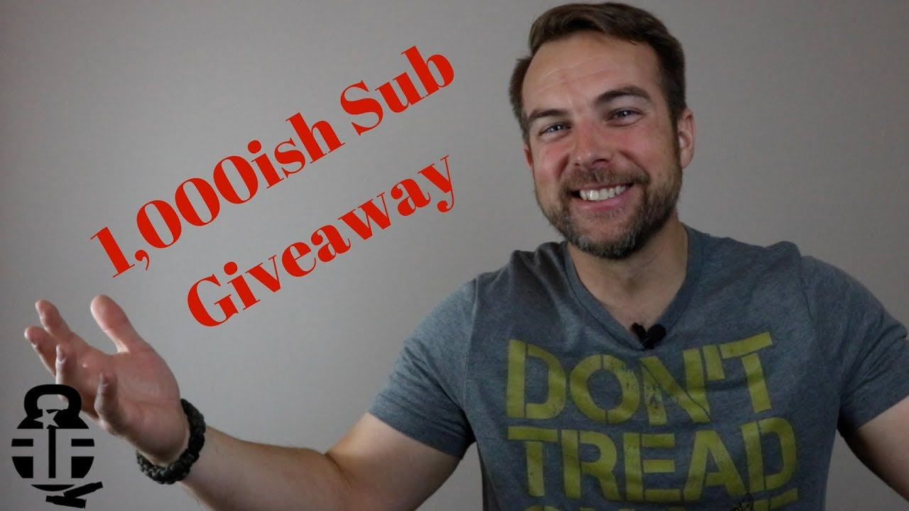 1,000ish Subscriber Giveaway ***CLOSED***