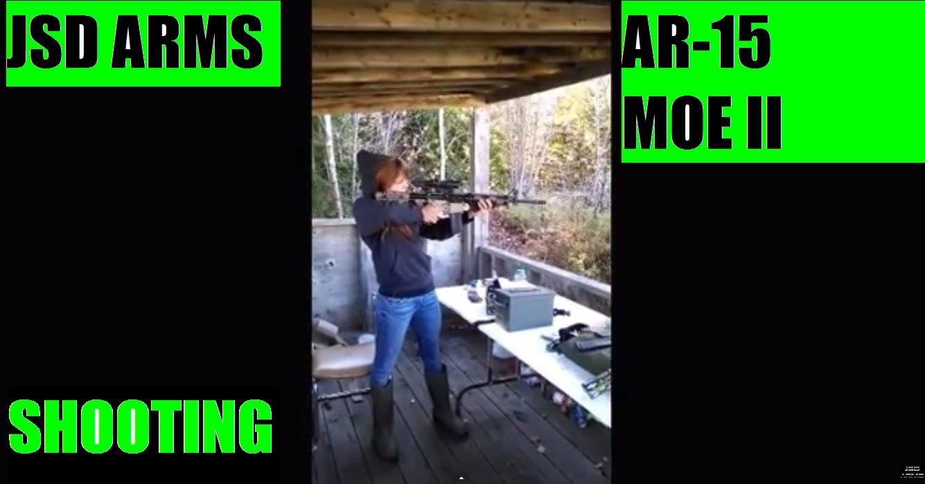 JSD Arms AR15 MOE II Rifle Tac-Con Automatic Vinalhaven Shooting range