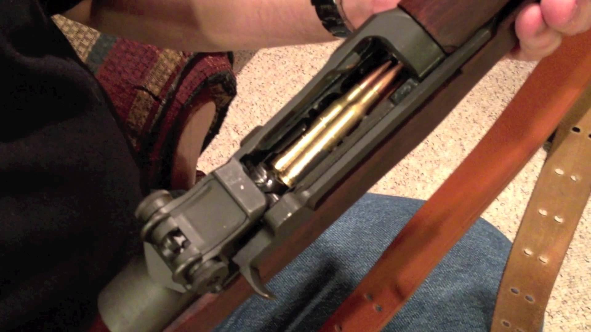 How to Load a M1 Garand - One Handed - And Function Demo with Ping Sound
