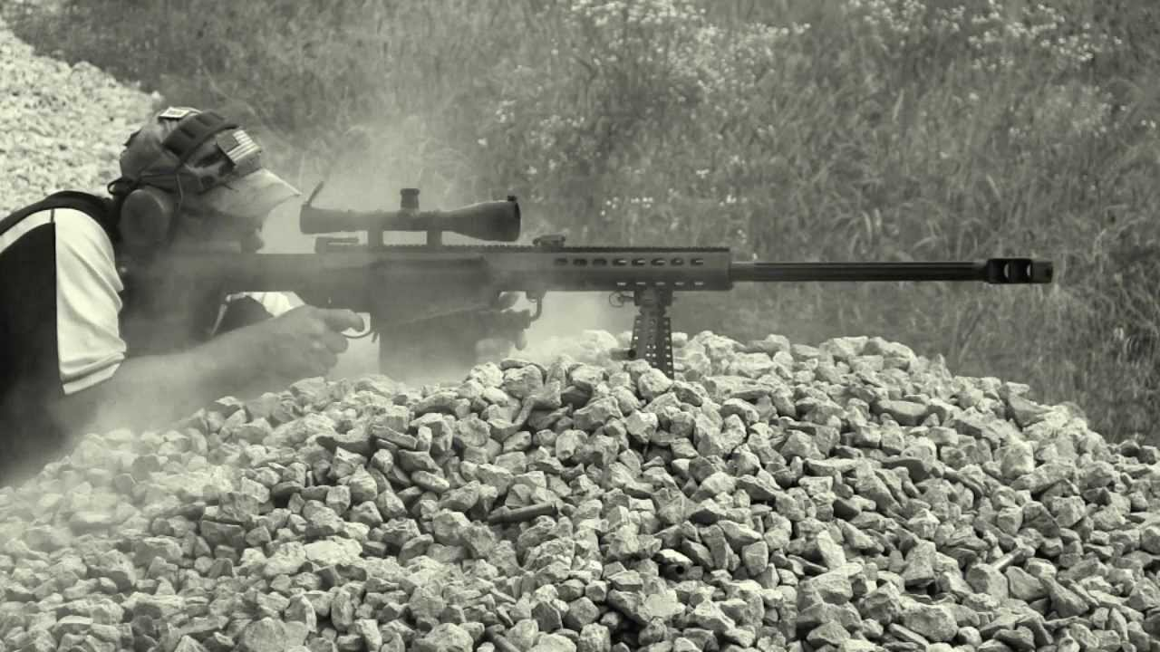 The Barrett M107 .50 BMG Caliber Sniper Rifle - Close Look and Shooting Demo