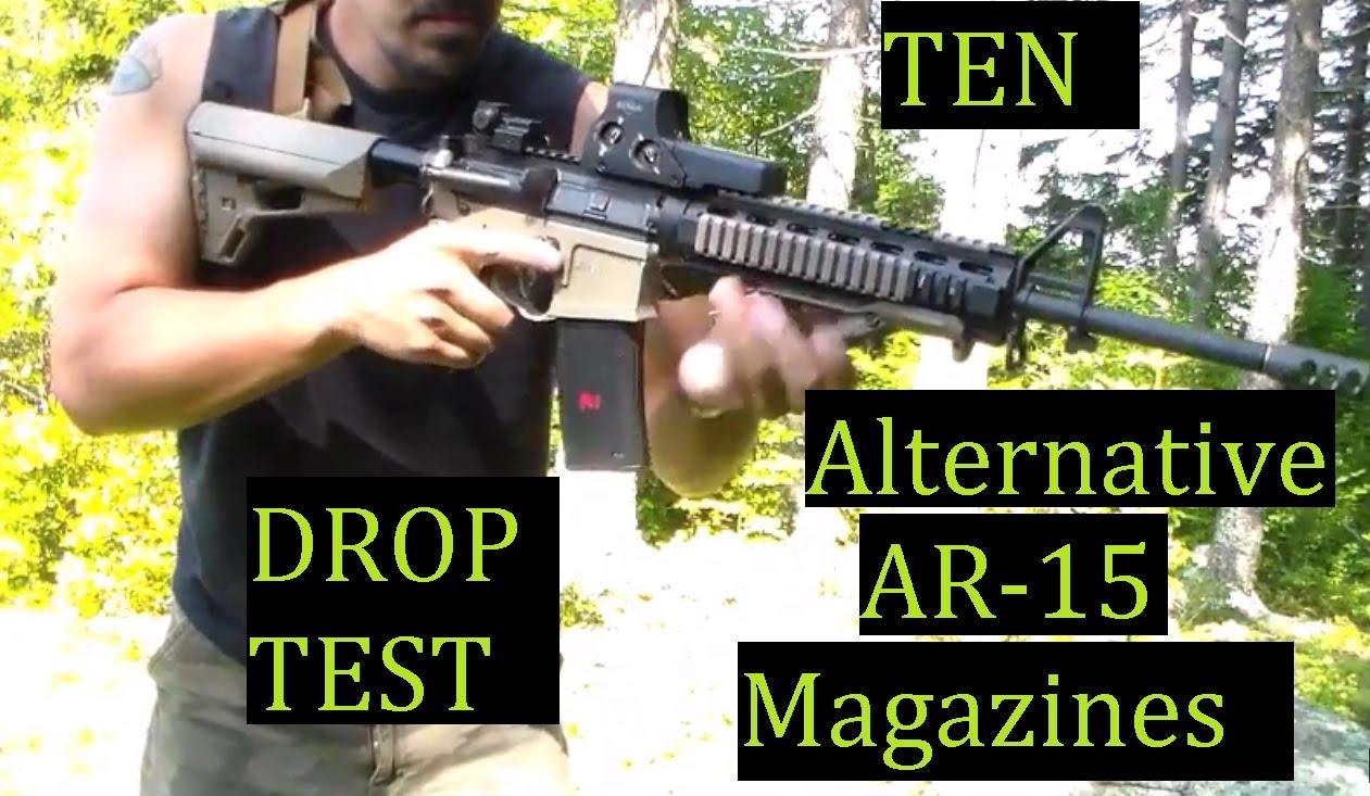 TEN Alternative Brand AR15 Magazines Fit and drop test