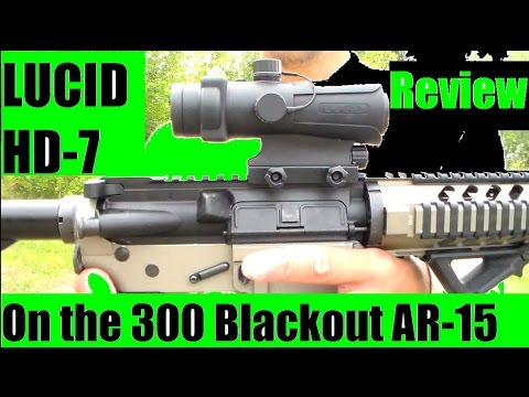 Lucid HD7 Gen 3 optics red dot on the 300 Blackout ar15 rifle Review