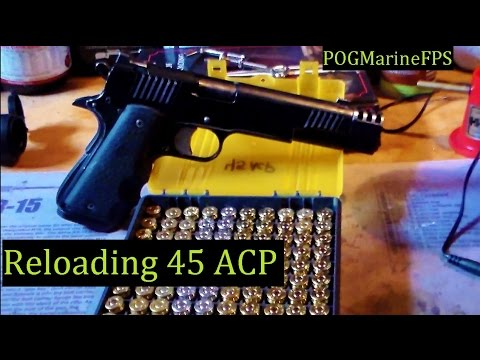 Reloading 45 ACP ~ 230 grain FMJ Projectile Ammunition - For my FNX-45 & 1911 Handguns