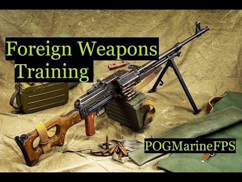 Marine Corps Foreign Weapons Training Military Firearms SVD Dragunov AK47 AK74 PKM etc..