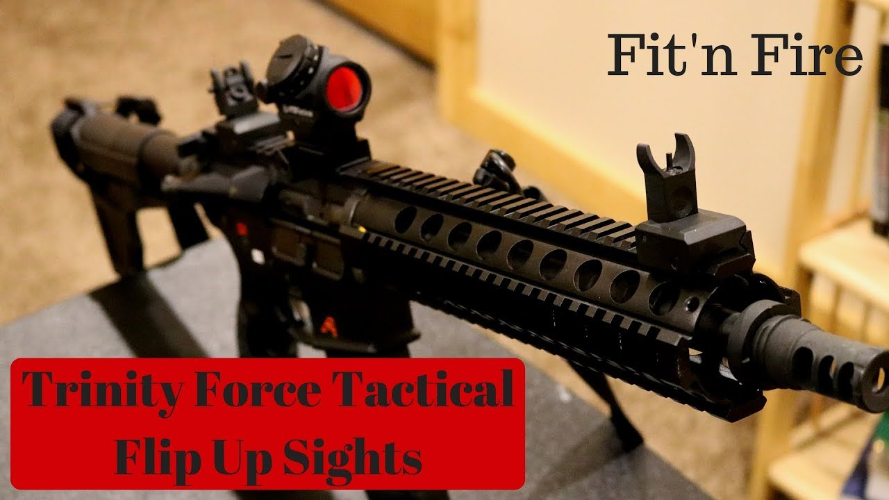 Trinity Force Tactical Flip Up Sights - Budget Sights