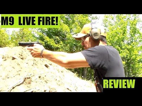 M9 Beretta w/ Metal upgrades NOW Service Pistol  LIVE FIRE Review
