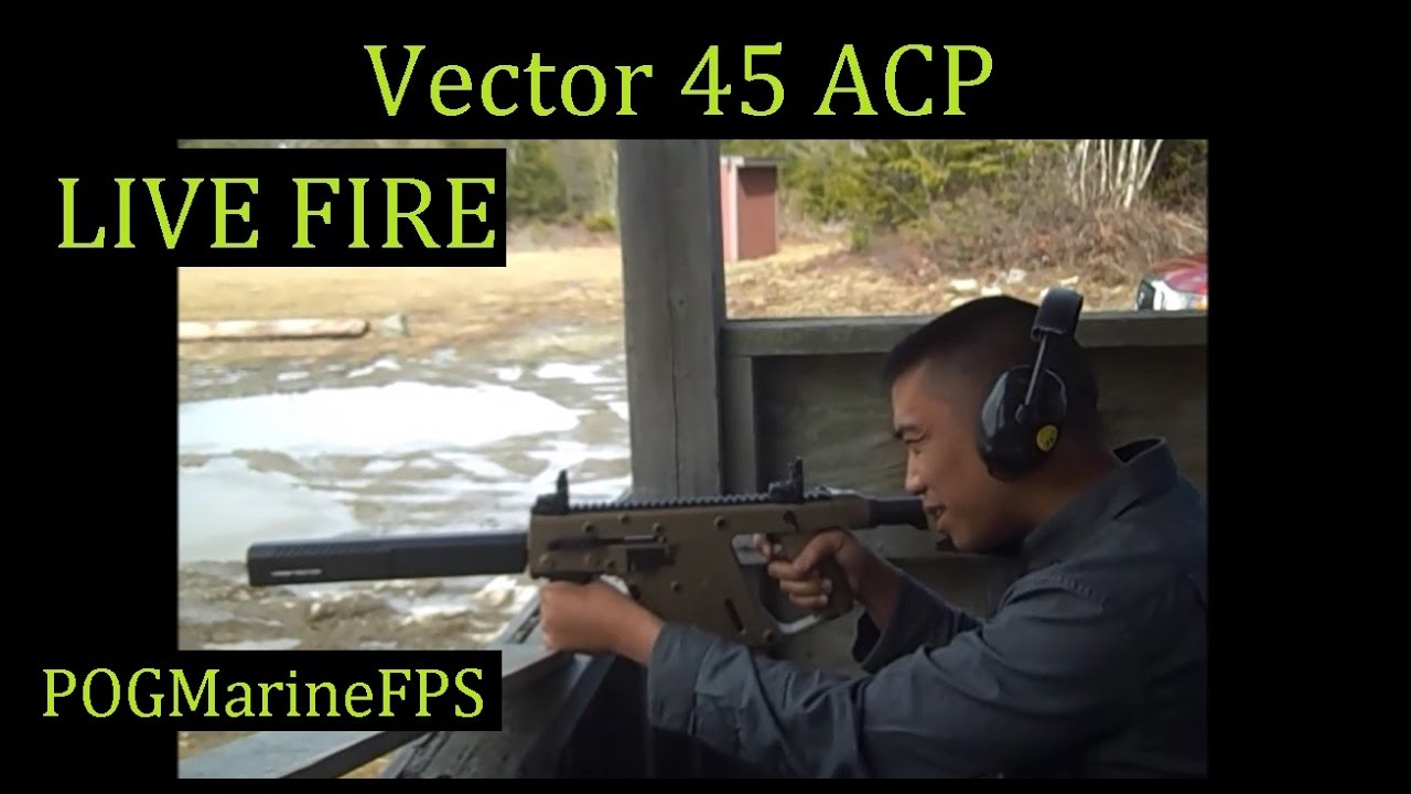 Kriss Vector 45-ACP Live Fire Review Feat RJ