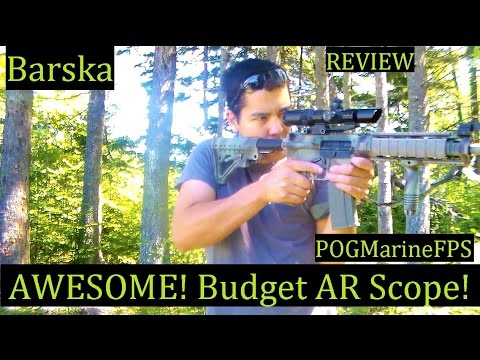 AR 15 Barska Optic Review BEST Budget scope on the market
