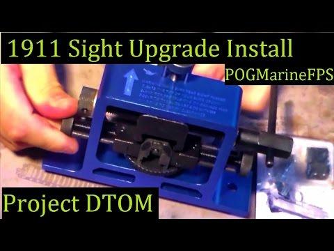 Project DTOM 1911 Ken Sight Upgrade Install DIY 9mm Govt Full Size