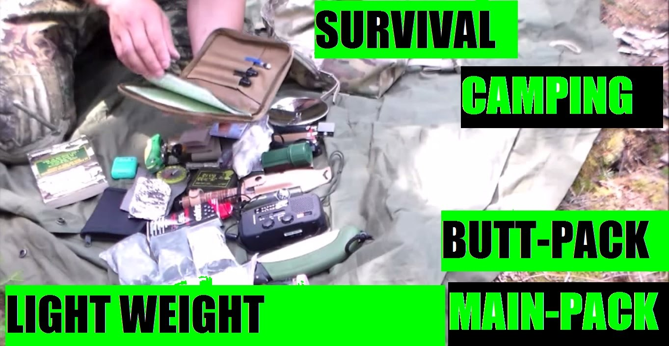 Camping & Survival mini prepper bugout bag and tent shelter main pack PART ONE by JSD Arms