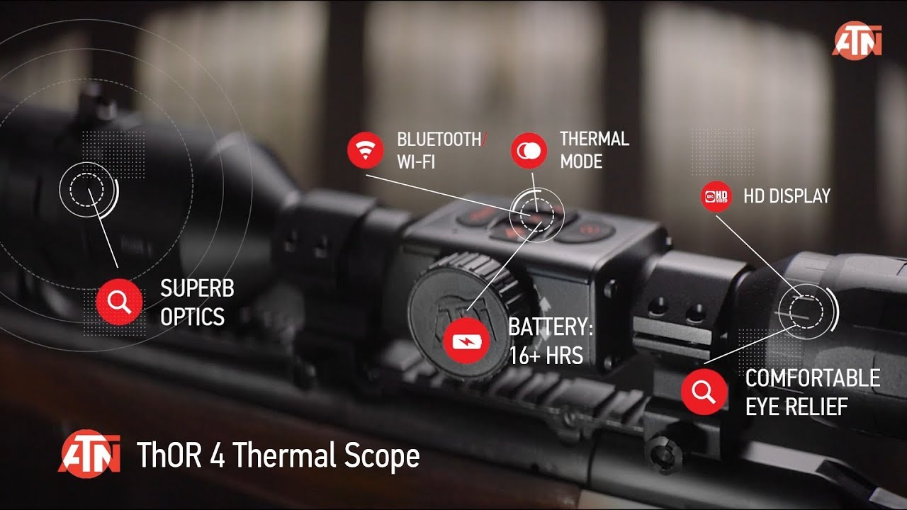 ATN ThOR 4 Smart HD Thermal Rifle Scope with camera - Best digital scope for hunting