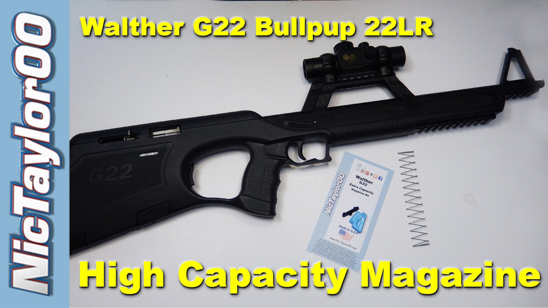 Walther G22 Bullpup High Capacity Magazine Modifications