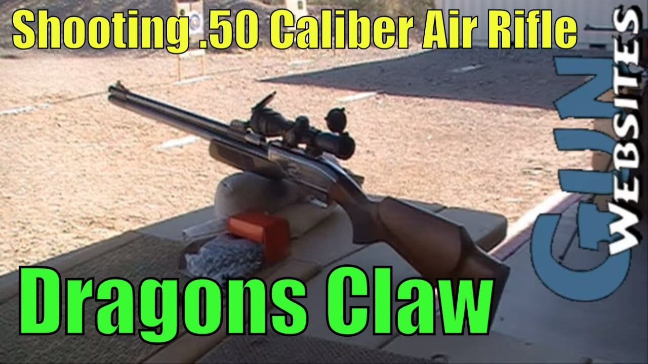Shooting .50 Caliber Air Rifle, We shoot Dragons Claw 50 cal Airgun by Sam Yang