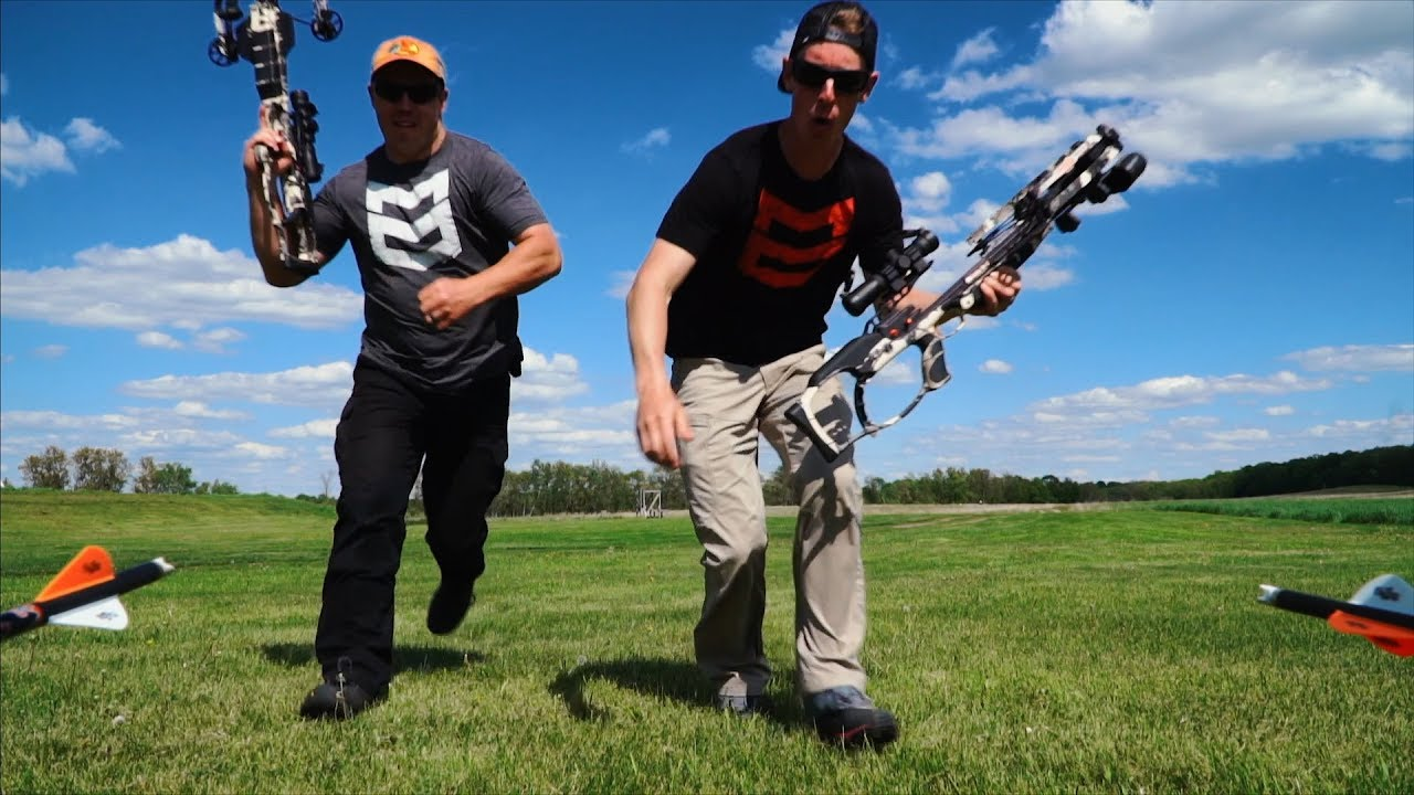 Crossbow Trick Shots | Gould Brothers