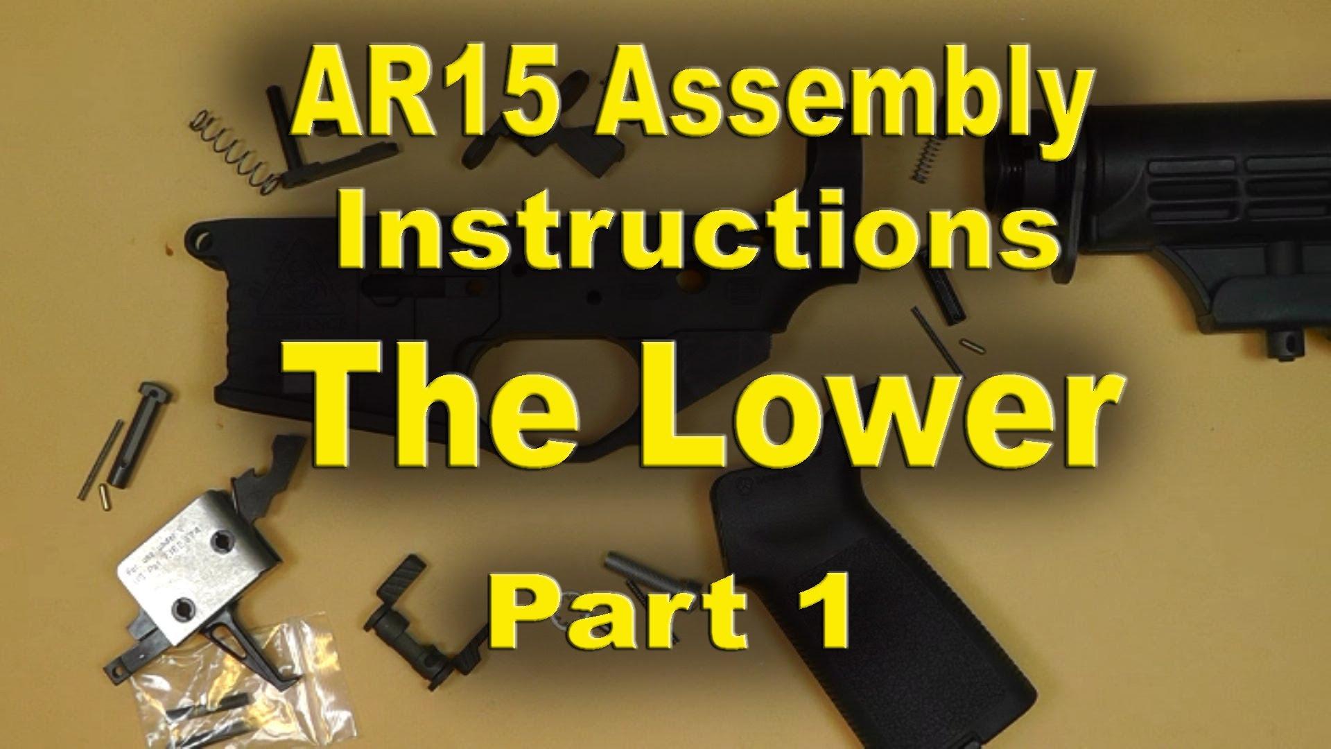 Black Rain Ordnance AR15 Assembly Instructions PART 1 (The Lower)