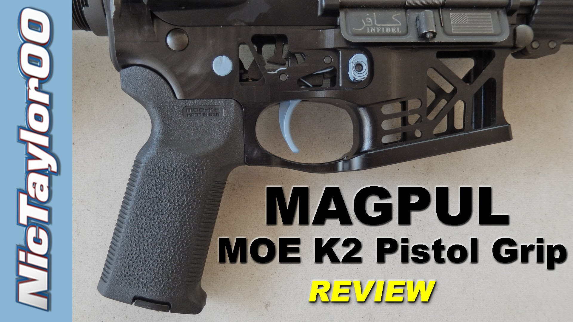 Magpul AR15 / M4 MOE K2 Pistol Grip Review