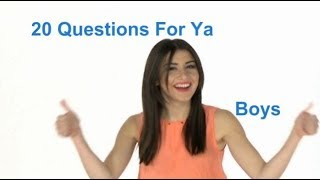 Mz Bomeys Zone 20 Questions for the Boys