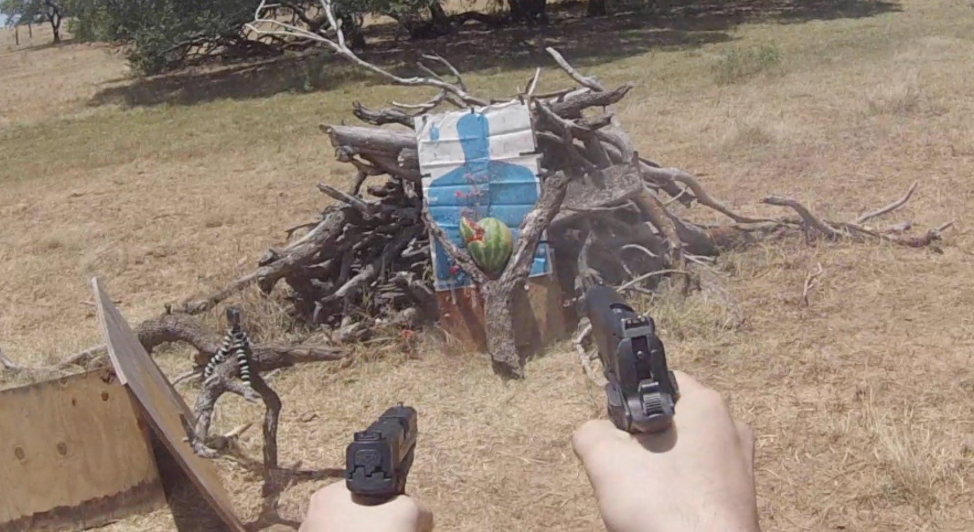 Testing Dual Wielded Pistol Accuracy
