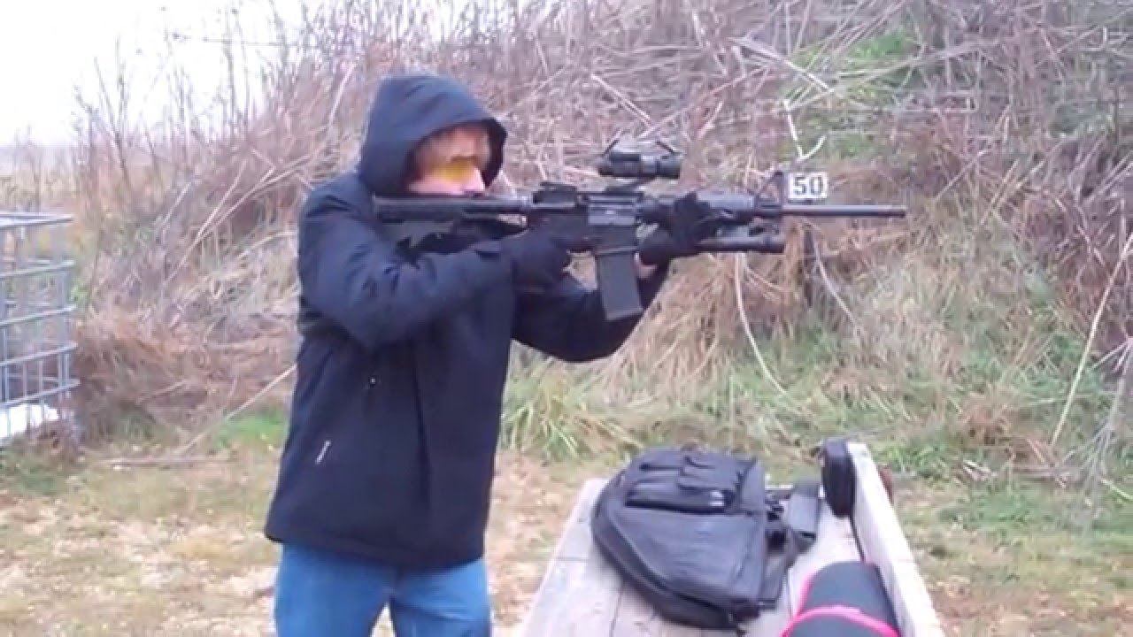 2015-12-12 Ruger AR-556 Eric Off Hand 30 rounds at 50 yards