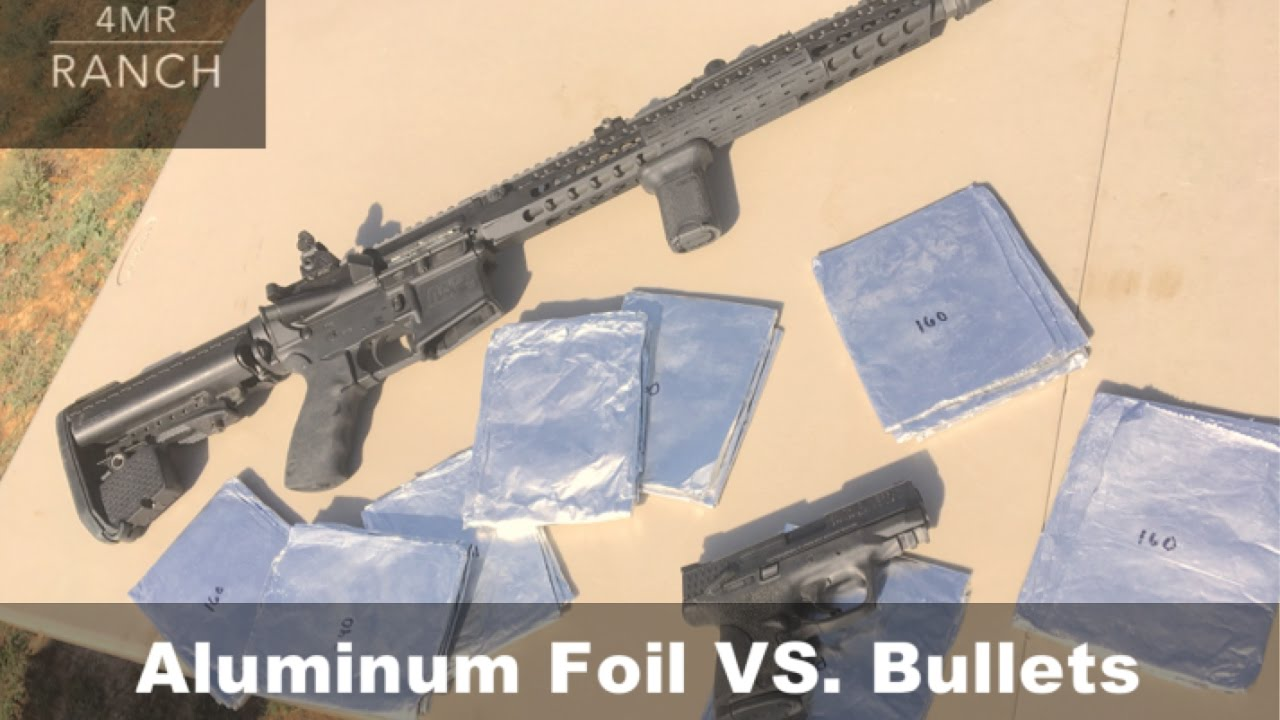 Can You Stop a BULLET with Aluminum Foil?